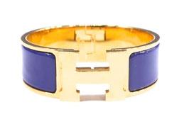 Hermès Clic-Clac H Armband in Royal Blau