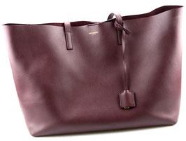 Saint Laurent Shopper Tote Bag Bordeaux