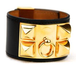 Hermès Collier de Chien Armband Schwarz