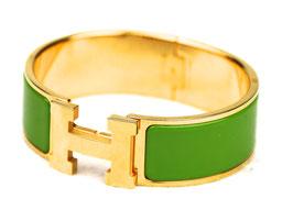 Hermès Clic-Clac H Armband Grün