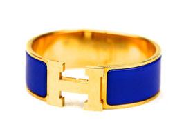 Hermès Clic-Clac H Armband Königsblau