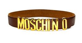 Moschino Letter Gürtel in Braun