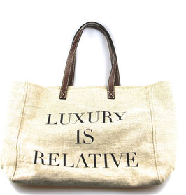 Moschino Shopper 'Luxury is relative' Beige