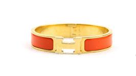 Hermès Clic-Clac H schmales Armband Orange