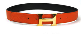 Hermès Gürtel H-Schnalle in Orange