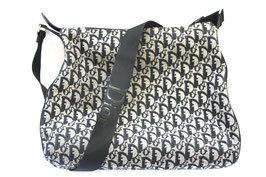 Dior Trotter Bag mit Christian Dior Monogramm in Dunkelblau