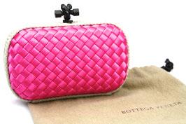 Bottega Veneta Knot Clutch Pink