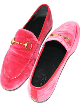 Gucci Samt Loafer in Pink