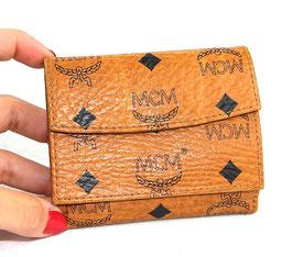 MCM Monogramm Portemonnaie Cognac