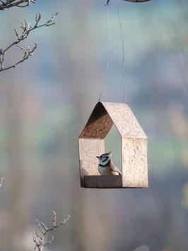 Vogelfutterhaus aus Rohstahl