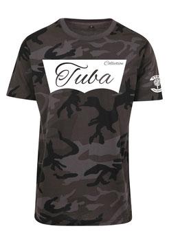 Tuba Design T-Shirt Easy Dark Camouflage