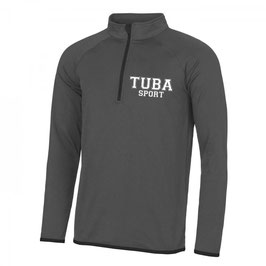 Tuba Zip Sweat Grey/ Black