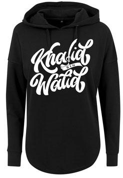 Long Hoodie Black Khalid bin Walid