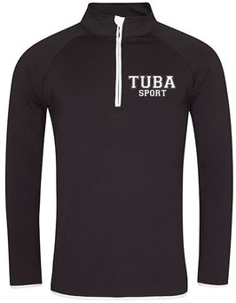 Tuba Zip Sweat Black/ White