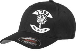 Tuba Flexfit Wooly Combed Schwarz/ Weiß