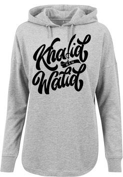Long Hoodie Grey Khalid bin Walid