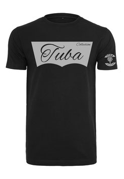 Tuba Design T-Shirt Easy Black & Grey
