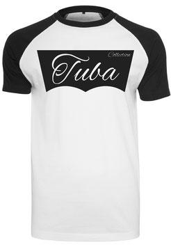 Tuba Design T-Shirt Weiß/ Schwarz