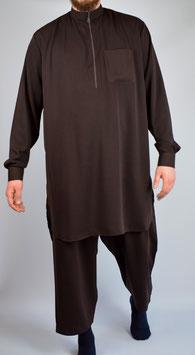 Salwar Kameez Dunkelbraun