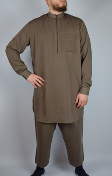 Salwar Kameez Hellbraun