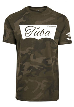 Tuba Design T-Shirt Easy Olive Camouflage