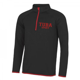 Tuba Zip Sweat Black/ Red