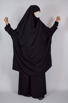 Tuba Khimar Black Exclusive