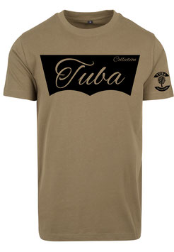 Tuba Design T-Shirt Easy Olive & Black
