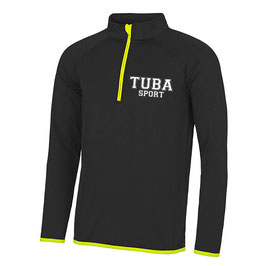 Tuba Zip Sweat Black/ Yellow