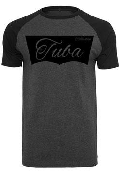Tuba Design T-Shirt Dunkelgrau / Schwarz