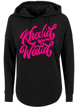 Long Hoodie Black/Rosa Khalid bin Walid