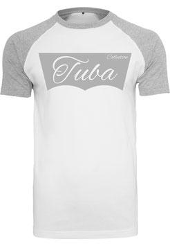 Tuba Design T-Shirt Weiß/ Hellgrau