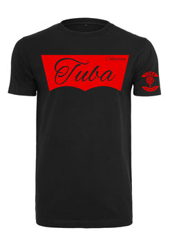 Tuba Design T-Shirt Easy Black & Red