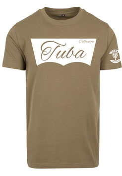 Tuba Design T-Shirt Easy Olive & White