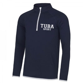 Tuba Zip Sweat Navy Blue/ White