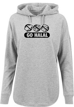 Long Hoodie Grey Go Halal