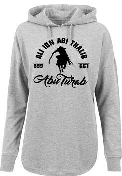 Long Hoodie Grey Ali Ibn Abi Thalib