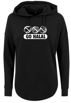 Long Hoodie Black Go Halal