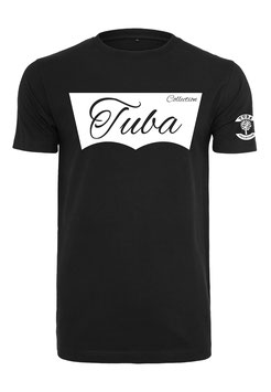 Tuba Design T-Shirt Easy Black & White