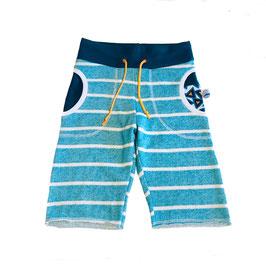 short chill streep blauw