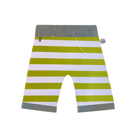 short sun green stripe