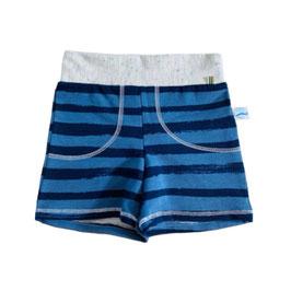 short beach blauw en oker