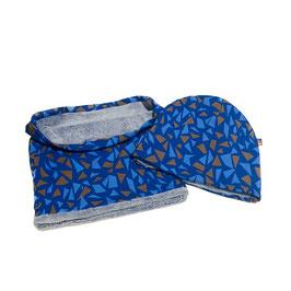muts en sjaal blauw