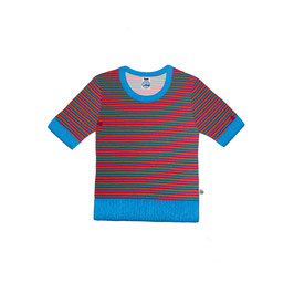 shirt retro stripes blauw