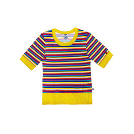 shirt retro stripes geel