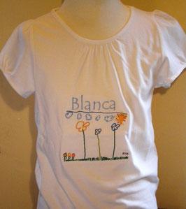Camiseta niña BORDADA CON SU PROPIO DIBUJO