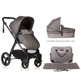 mountain buggy COSMOPOLITAN LUXUSKOLLEKTION inkl. Babyschale & Tasche mit Wickeldecke