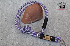 "Zugstopp Tau-Halsband ""Black Purple"" - HU bis 47 cm"
