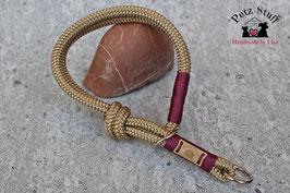 """Zugstopp Tau-Halsband """"Golden Aubergine"""" - HU bis 40 cm"""