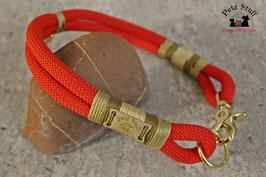 """Tau-Halsband """"Shiny Red"""" - HU 46-48 cm"""